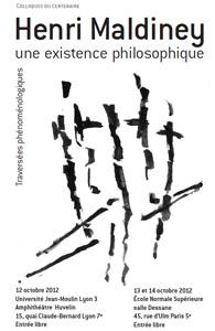 Henri Maldiney : une existence philosophique - 12-14 octobre 2012