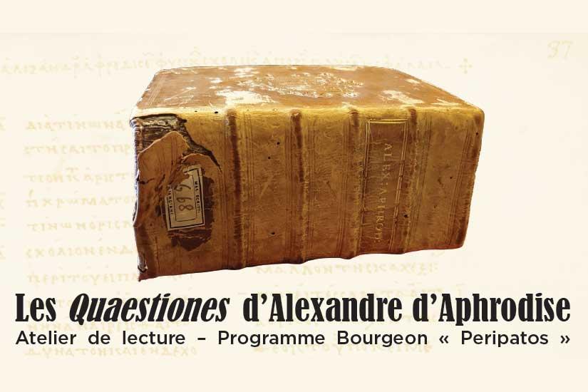 Les Quaestiones d'Alexandre d'Aphrodise