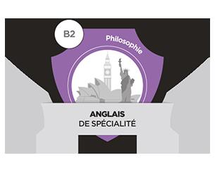 Badge certifiant le niveau B2 en anglais mention philosophie