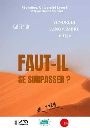"""Café Philo """"Faut-il se surpasser ?"""" - 22 novembre 2019"""