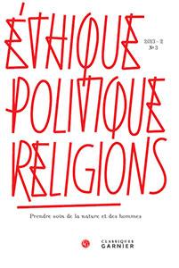 Ethique, politique, religions. 2013, n°3