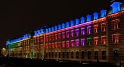 Manufacture des Tabacs illuminée - Université Jean Moulin Lyon 3