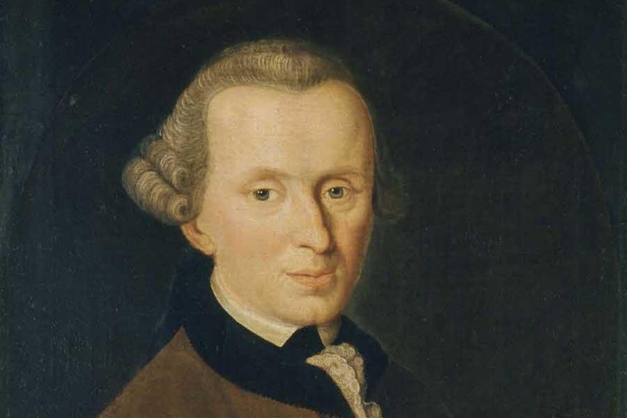 E. Kant, par Johann Gottlieb Becker