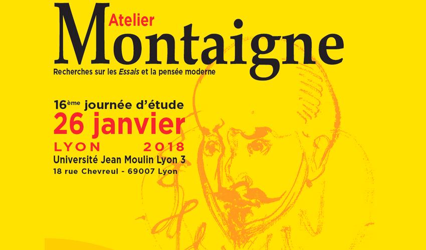 Atelier Montaigne - 26 janvier 2018